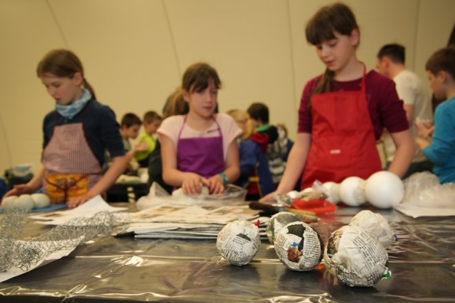 "Special Exhibition ""Foraminifera: Small Master Builders in the Ocean"" (19th September - 30th November 2014); Children design a special exhibition about protozoa in the terra mineralia. 30th June 2014: Last gathering of the ""museobilbox""-children. (primary school Georgius Agricola in Freiberg, a school promoted by the TU Bergakademie Freiberg)."