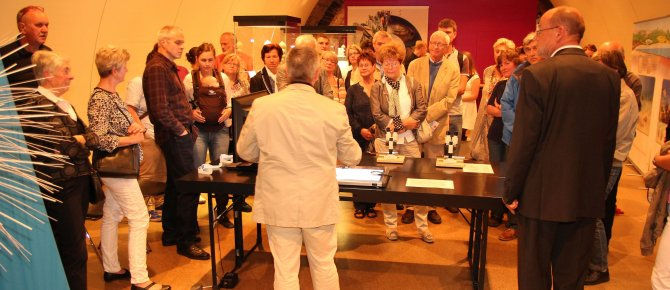 "<span>Special Exhibition ""Foraminifera: Small Master Builders in the Ocean"" (19th September - 30th November 2014): Impressions of the exhibition´s opening on 18th September 2014. </span>"
