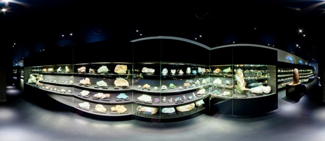 <span>There are 3.500 minerals on show at the exhibition terra mineralia. 1.400 of them are presented at the Asian hall. </span>